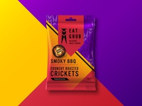 Eat Grub Packaging - Roasted Cricket (BBQ)