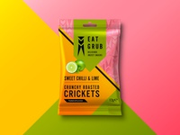 Eat Grub Packaging - Roasted Crickets  (Lime)