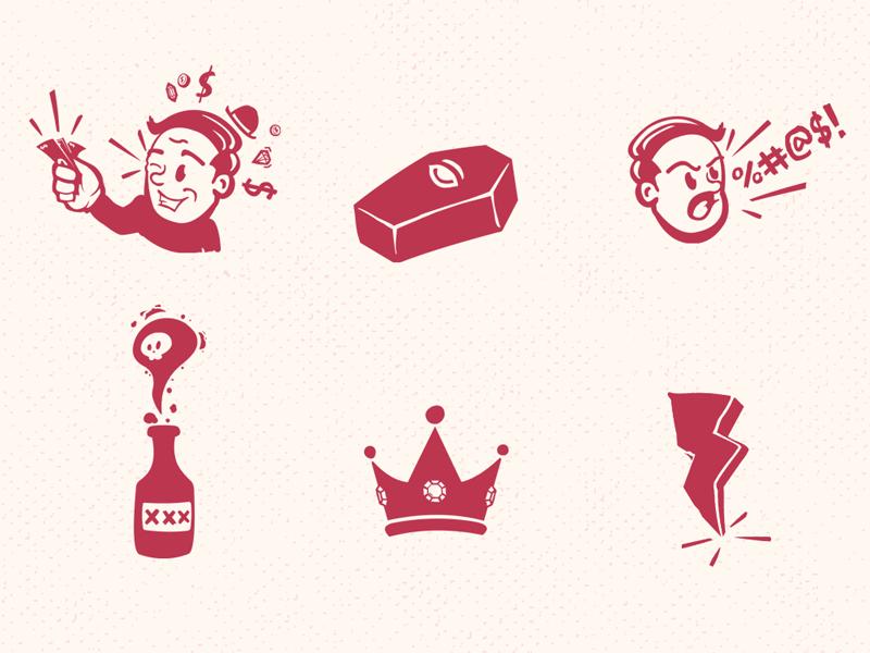 Mini Illustration Doodles doodles illustration coffin retro vintage king booze graphic design rich and famous