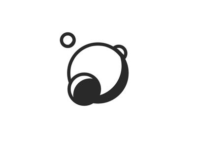 Planet logo design black and white line art illustration sci-fi space planet