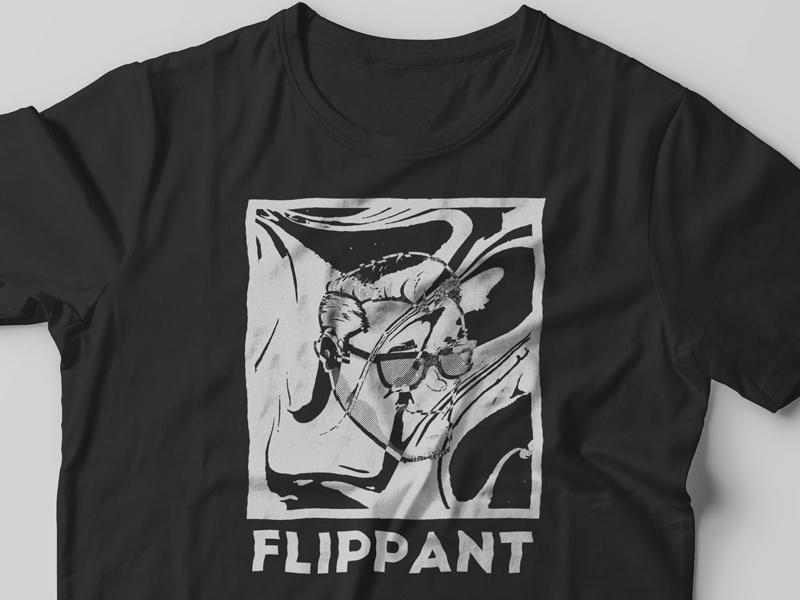 Flippant black and white t-shirt design illustration tee t-shirt