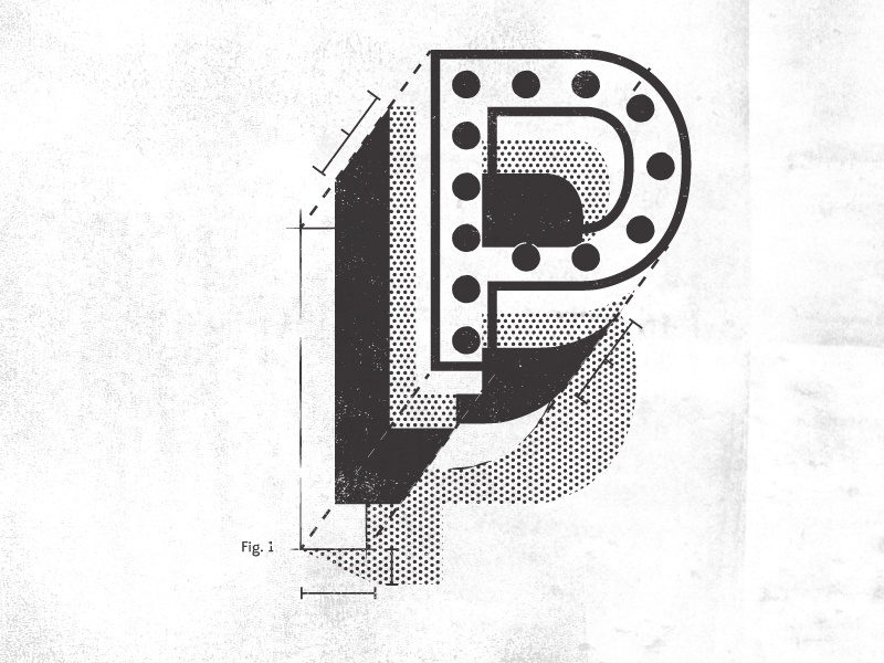 Type Deconstructed black and white deconstructed technical design 3d illustration type