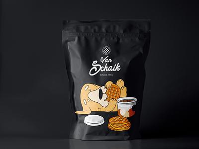 Van Schaik Stroopwafels packagingdesign dribbbleweeklywarmup sweets netherlands van schaik retriever dog amsterdam