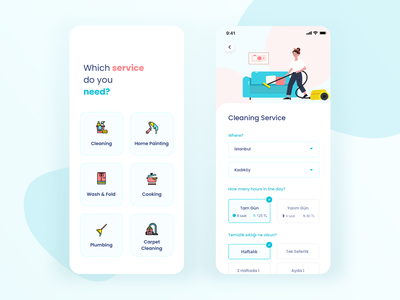 Home Cleaning Service Mobile App icons sketch ui design ux design ui ux homi cleaning service cleaning cooking application mobile app app