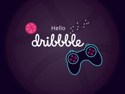 Gamepad Dribbble Debut