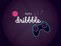 Gamepad Dribbble Debut