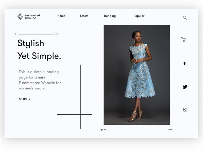 Landing Page fashion figma landing page