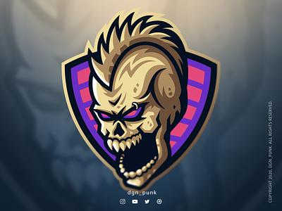 Skull Logo Conept brand mascot identity sport vector game product design ui typogaphy logo illustraion icon character branding