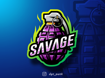 Savage Grenade Logo (client work) branding mark minimal animation web ux game identity icon app mascot brand illustration typography badge sport ui character logo