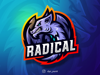 Dragon logo made for a client called Radical icon badge character brand branding sport logos ui mascot logo
