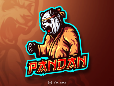 Panda Logo Made for a client name Pandan icon game identity ui esport logo logos mascot sport brand character