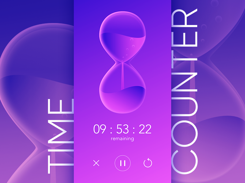 #Daily UI 014-Countdown Timer sandclock timer countdown 014 ui dailyui counter time