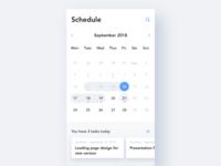 #Daily UI 038-Calendar