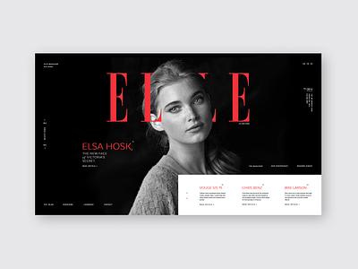 ELLE Magazine elle magazine magazine fashion blog fashion website fashion golden ratio grid landing page ui ux grid design web  design typography design