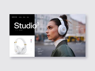 Beats by Dre headphones landing page music website beats by dre beats ux ui ui design fashion e-commerce store design store grid design ui ux web  design typography
