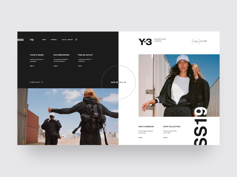 Fashion Website Designs Themes Templates And Downloadable Graphic Elements On Dribbble