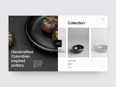 Chamba Nordic minimal minimal web design minimal website grid layout ui design landing page shop store design store e-commerce ux ui grid design web  design typography
