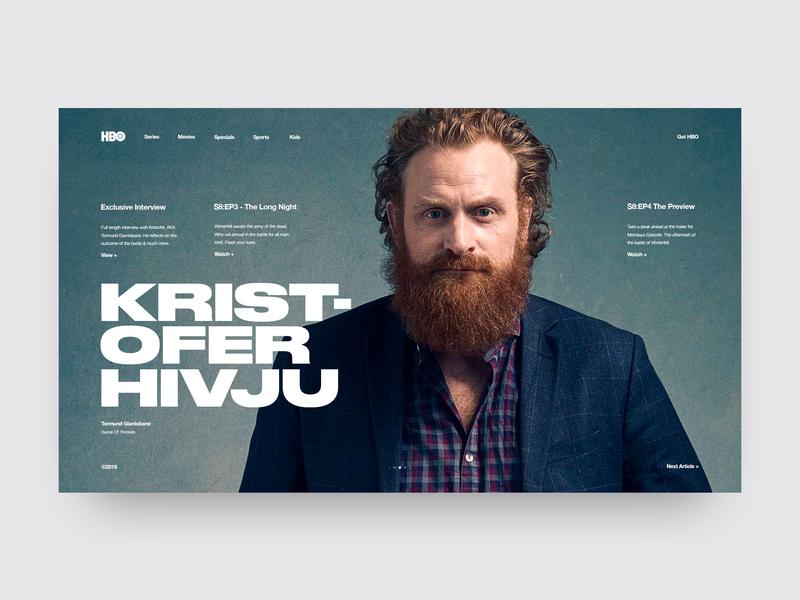 HBO | Game Of Thrones tv series hbo game of thrones minimal website minimal ui design landing page ui ux grid design web  design typography