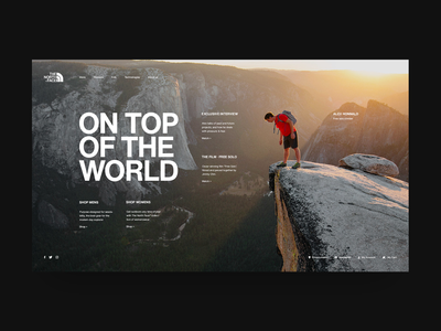 The North Face© - Alex Honnold alex honnald the north face minimal web design minimal website minimal shop landing page ui design fashion website store design fashion store e-commerce ux ui grid design web  design typography