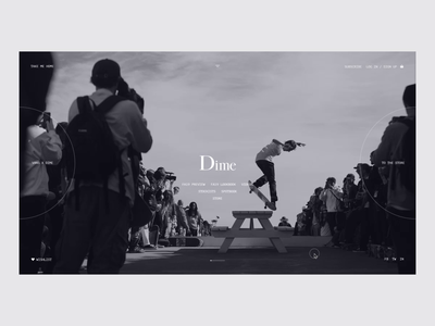 DIME MTL minmal web design minimal black and white website fashion website dime mtl dime skate skateboarding store landing page fashion e-commerce ui design grid design ux ui web  design typography