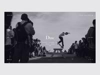 DIME MTL minmal web design minimal black and white website fashion website dime mtl dime skate skateboarding store landing page fashion e-commerce ui design grid design ux ui web  design typography