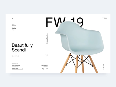 Sklum | FW19 motion interaction design interaction nordic minimal website minimal scandinavian furniture shop furniture store design store landing page e-commerce ui design grid design ux ui web  design typography