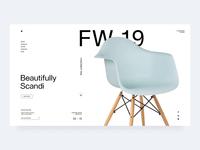 Sklum | FW19 motion interaction design interaction nordic minimal website minimal scandinavian furniture shop furniture store design store landing page e-commerce ui design grid design ux ui web  design typography