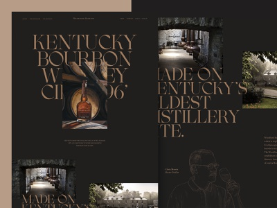 Woodford Reserve whiskey and branding alcohol branding green chameleon web design website design type design typeface alcohol whiskey website whiskey store shop minimal store design landing page ux ui web  design typography