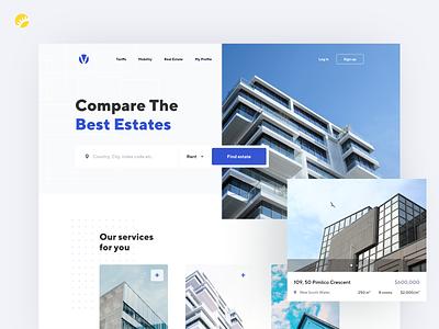 Verivox platform design real estate service design white background simplicity uxdesign uidesign ux research website design ux ui design
