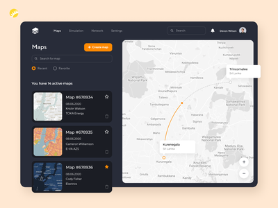 Parabellum custom maps high quality simplicity user friendly user interface platform navigation branding mobile app design ux ui