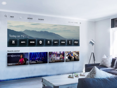 Digital Wall in Living Room slide digital wall ar vr movie tv avengers avengersendgame navigation after effect fullscreen animation adobe xd
