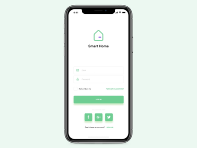 Hello Dribbble. Here is my first shot! Smart home app for iOS. clean material icons flat principle app home app login minimal mobile app design invite first shot dribbble invite giveaway design white principle smart home animation app ux ui ios
