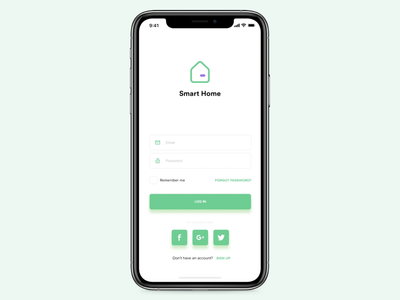 Hello Dribbble. Here is my first shot! Smart home app for iOS.