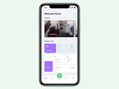 Smart Home app. Add new device flow + notification flow. notifications notify notification icon white ui principle ux principle app smart home mobile app design minimal material icons ios home app flat design clean app animation