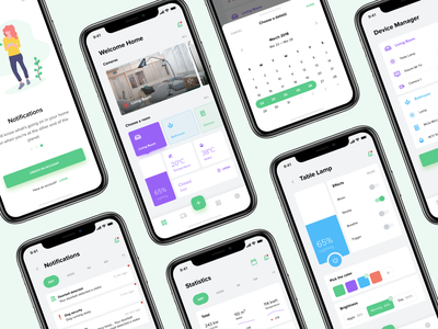 Smart Home App dashboard minimalism charts iphone x concept design app design typography onboarding notification calendar icon white ux ui smart home mobile app design material icons ios clean app
