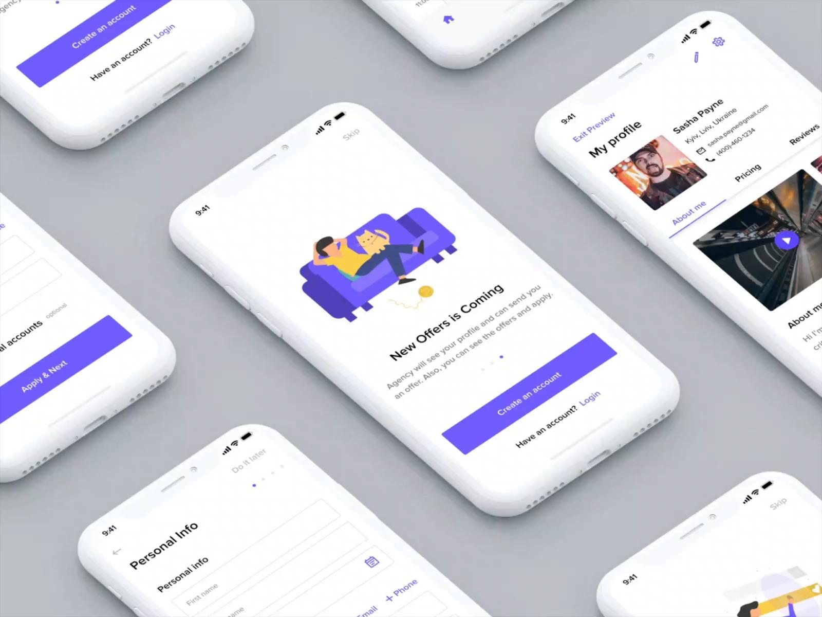 Travel app  find job app