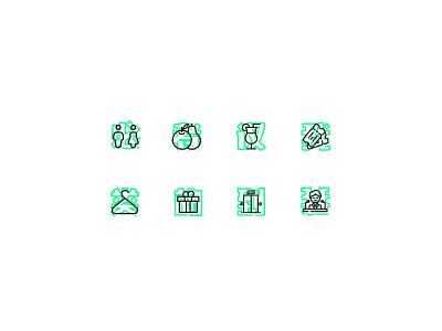 Asia Now // Icons design flat design branding brand identity brand brand design iconography illustration design illustration vector icon set icons