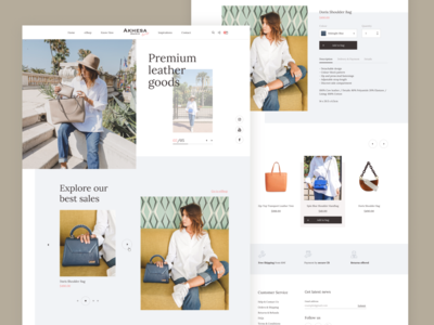 Fashion website redesign