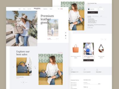 Fashion website redesign