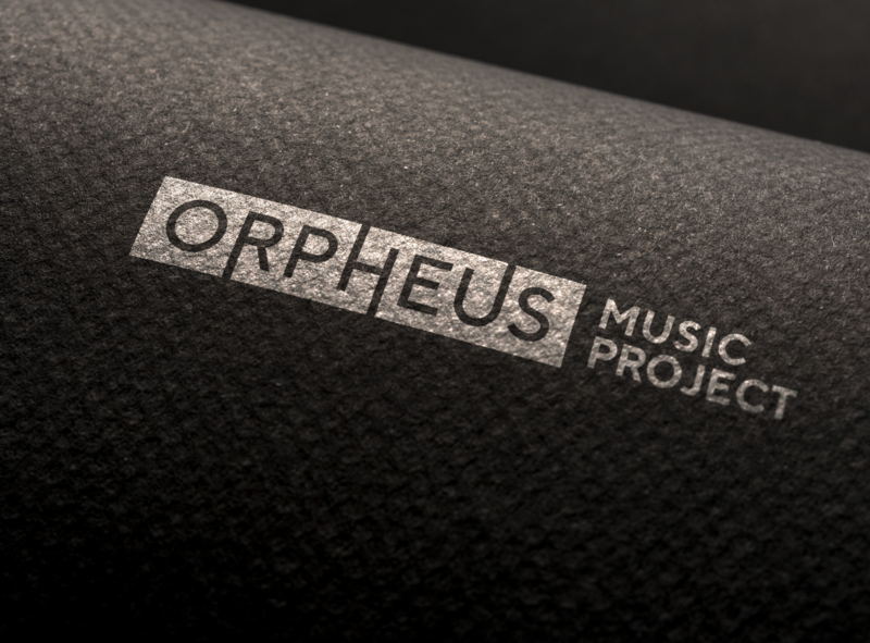 Orpheus Music Project music project design abstract branding vector extending lines wordmark geometric opera orpheus logo music