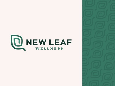 New Leaf Wellness continuous line health coach life coach health listening ear illustration pattern icon design abstract vector branding logo new leaf wellness leaf wellness new leaf new
