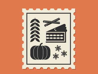 Autumn Stamp design abstract illustration branding vector geometric illustration geometric gord pumpkin star anise mulled wine cinnamon pie stamp fall print
