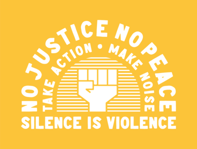 Silence Is Violence nopeace nojustice justice defundpolice community protest silenceisviolence