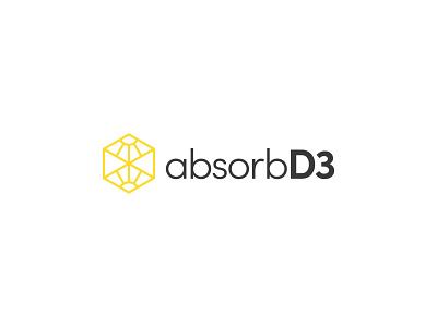 absorbD3 wordmark typography icon abstract logo design vector illustration sunshine sunrays rays sun wordmark logo wordmark
