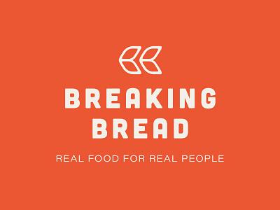 Breaking Bread nonprofit grain bread typography illustration logo branding