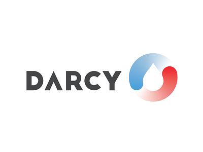 Darcy gradient droplet waterdrop vector typography logo branding