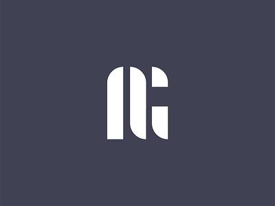 Initials Monogram logo abstract vector personal brand ag initials branding monogram