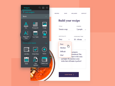 Form design with interactive UI elements ui kits ui-ux design interaction design form design justinmind ux design ux ui design ui ui-ux design form design ui-ux design form design