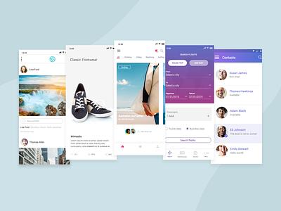 Mobile app UIs created with Justinmind minimalist ux design ux ui design ui ui-ux design interaction design ui-ux design interaction design