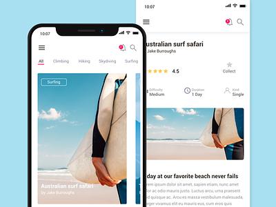 Travel app with fluid and original transitions interaction design ui-ux design interaction design minimalist justinmind ux design ux ui design ui